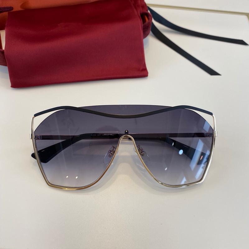 0268 Güneş Gözlüğü Bağlı Lens Büyük Boy Yarım Çerçeve Küçük Perçinli Güneş Gözlüğü ile Popüler Goggle En Kaliteli Case Ile Gel