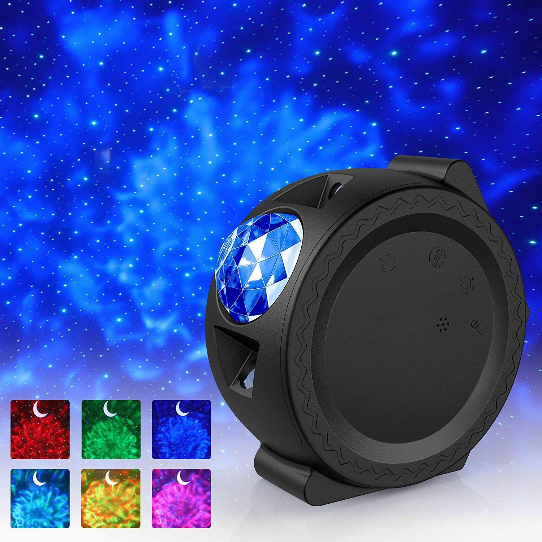 New Stary Sky Projetor LED Nebulosa Nuvem Nuvem Night Light Oceano Acenando Luz 360 Graus Rotação Night Lighting Lamp for Kids presentes 201028