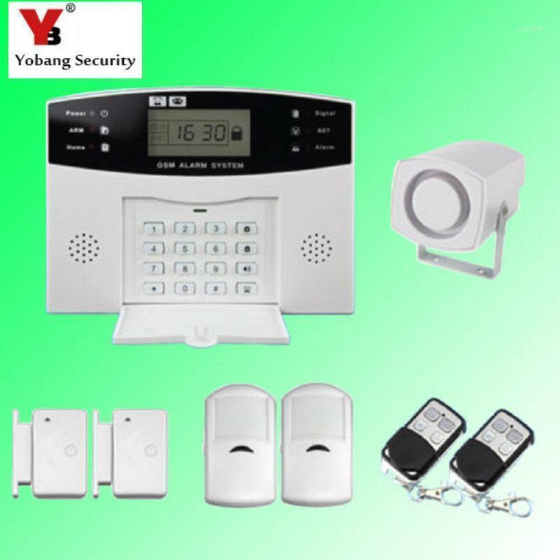 알람 시스템 YobangSecurity 러시아어 프랑스어 이탈리아어 체코 어 주택 시스템 PIR 검출기 도어 센서와 무선 GSM