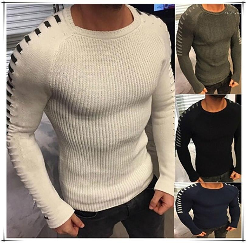 Hommes tricot Pull automne Vêtements d'hiver O Cou Longues Slevee Pulls Tops Streetwear Harajuku Chic Plus Taille Pulls Mens1