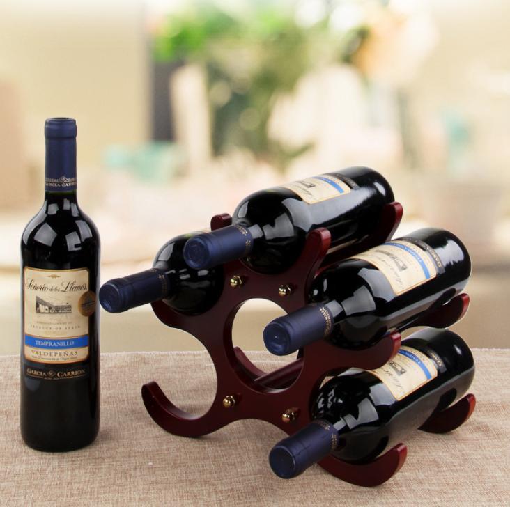 رفوف النبيذ المنضدية الصلبة الخشب الرف الديكور الأوروبي الإبداعية الزجاج المنزل مجلس الوزراء عرض الأواني