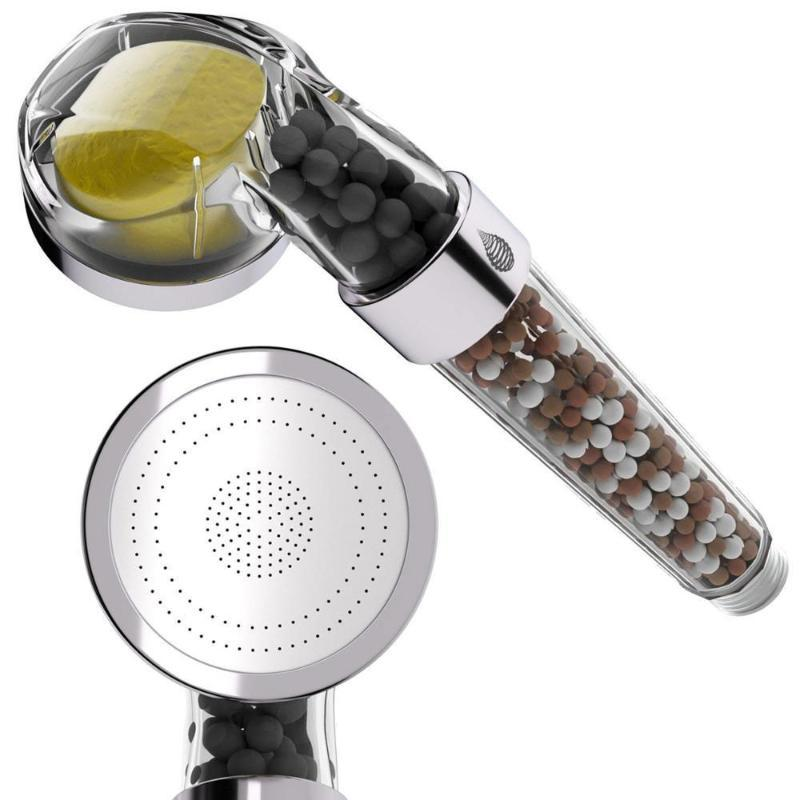 Bath Handheld Shower Head vitamina C Ionic Alta Pressão Rainfull chuveiro filtro Showhead Filtros de Conjunto para banho de limpeza da água