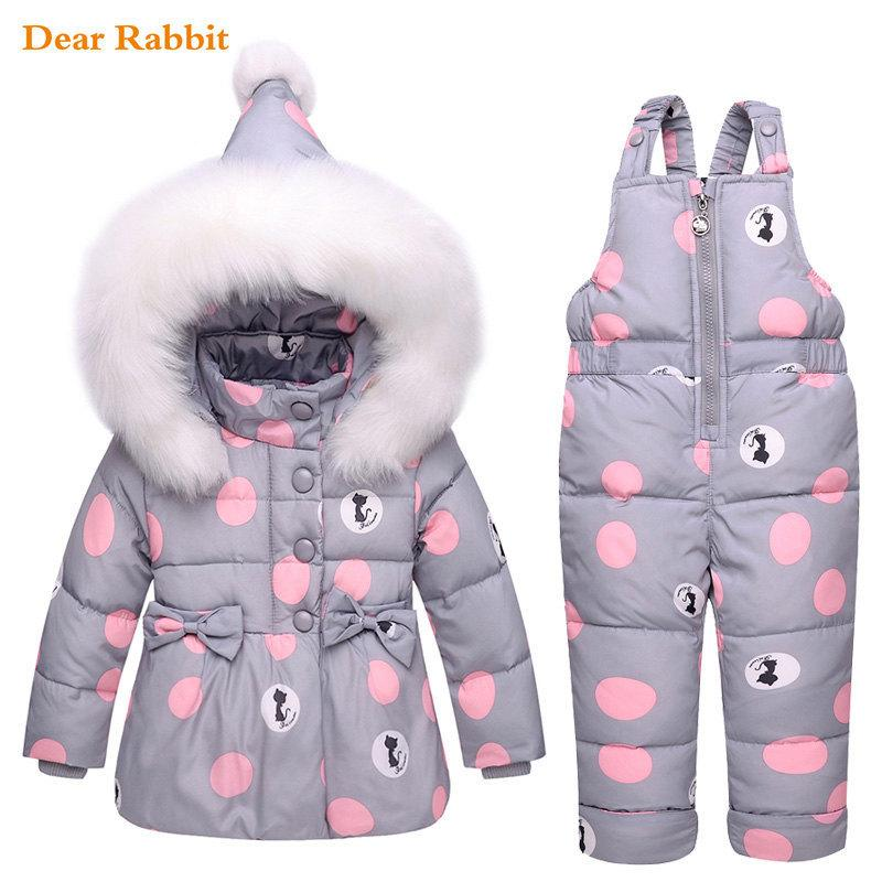 new Winter children clothing sets girls Warm parka down jacket for baby girl clothes children's coat snow wear kids suit 201126