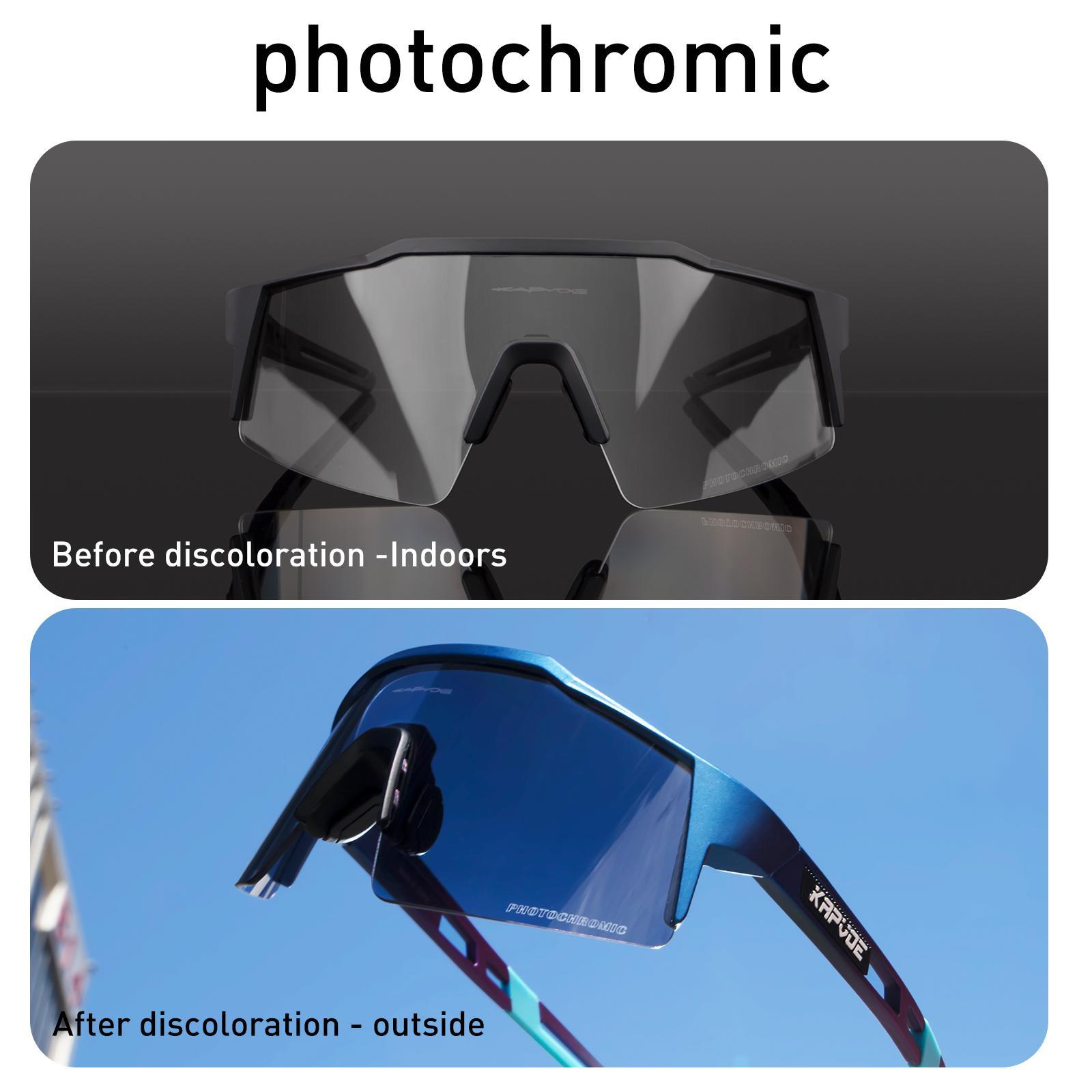 2020 Новые фотохромные Спорт Велоспорт Очки для велосипедов Горный Велосипед Люди Велоспорт Солнцезащитные очки UV400 Очки MTB Солнцезащитные очки Велосипедные очки Q0119