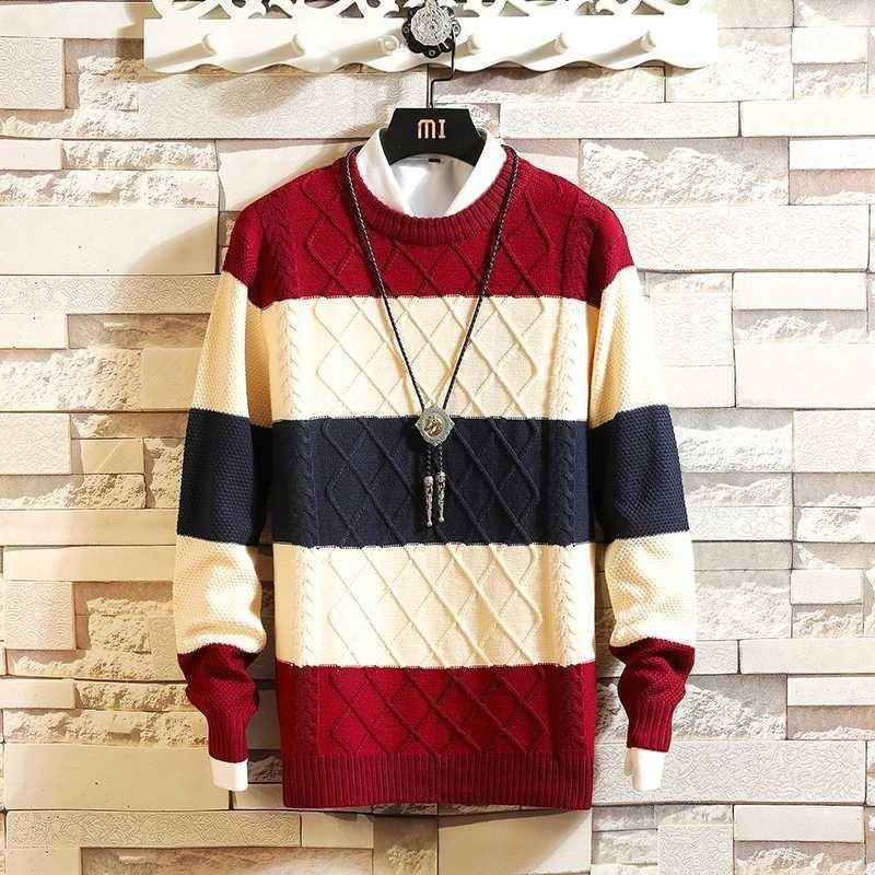 2018 Nuevo invierno para hombre jersey suéteres algodón casual hombre suéter de navidad jumpers masculino ropa de punto mantente cálido tirón homme my6281