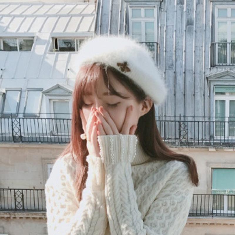 Береты Регулируемые бейсбольные колпачки 2021 мода зимние шляпы для женщин колпачков для волос осень и пустая верхняя шляпа нет