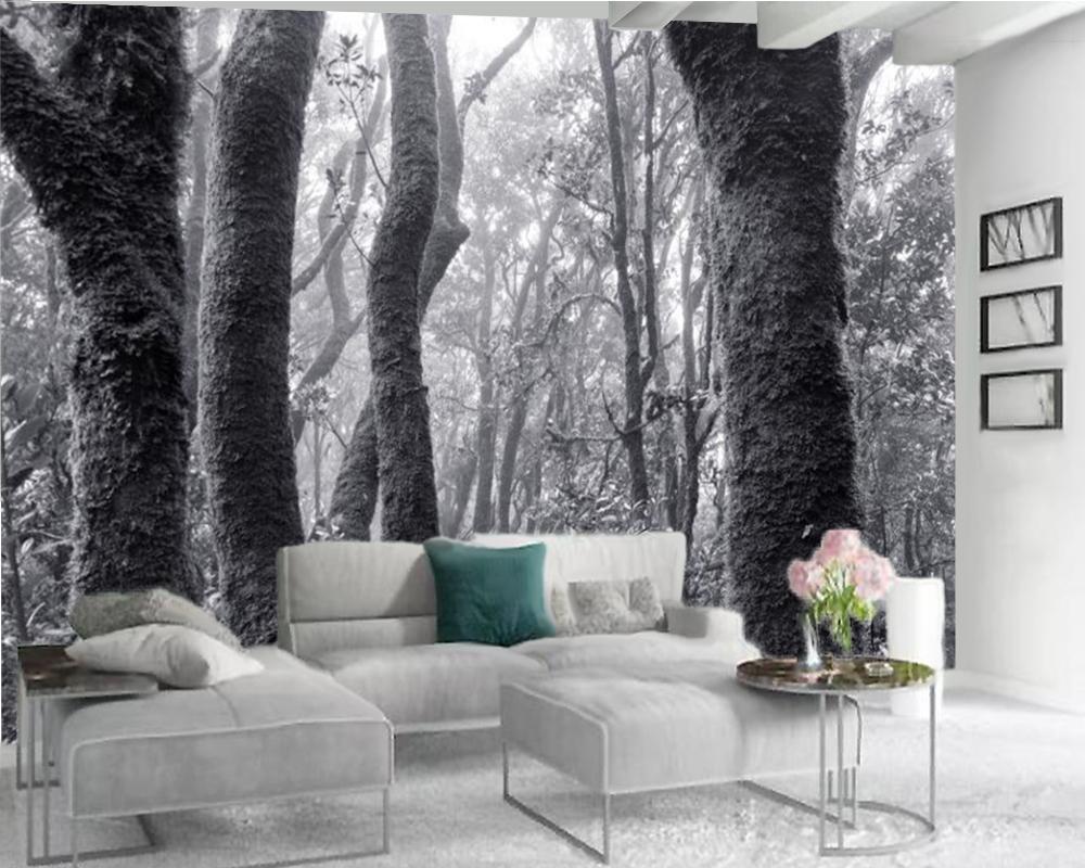 Benutzerdefinierte tier 3d tapete grau wald zebra 3d tapete innen dekorative seide 3d mural tapete