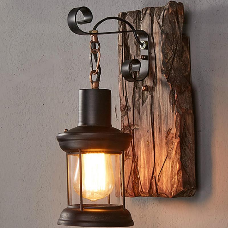 النمط الأوروبي الرجعية شخصية الإبداعية الصمام الخشب الجدار مصباح مطعم مقهى بار الممر ممر القديم الرجعية الجدار مصباح LB100912
