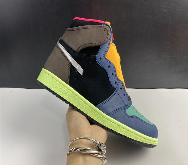 2020 Новое поступление Jumpman 1 1S High Travis Scotts Бесстрашные обсидианы UNC Мужские Женщины Баскетбольные Обувь запрещены Бредом Новый Чикаго Мужчины Спортивные Обувь