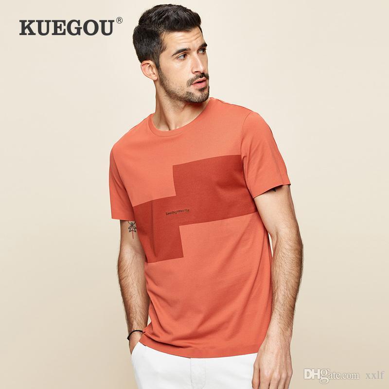 Sommer Baumwolle Patchwork Stickerei T-shirt Männer T-Shirt Marke T-Shirt Kurzarm T-Shirt Male Plus Size Tops KG-970