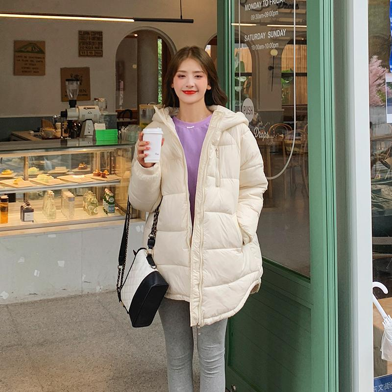 Giacca imbottita in cotone invernale da donna Giacca oversize grosse lunghe lunghe parka femmina con cappuccio solido plus size cappotti casual
