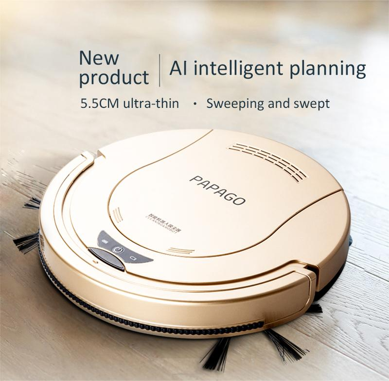 Robot Vacuum Cleaner 1800PA Poweful Suction 3in1 pet hair home dry wet mopping cleaning robot Auto Charge vacuum mini Y200320