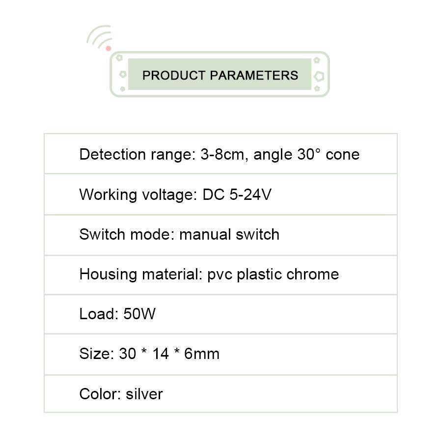 Switch do sensor do movimento do IR Auto ON / OFF DC 5V-24V 5A máximo 50W Swead Swewer Swewer Swead Sensor DIY LED armário de armário de armário