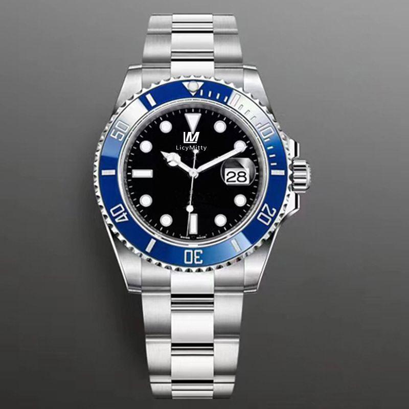 2020 Новые Мужские Часы Синяя Керамическая Безель Сапфировый Стекло Из Нержавеющей Стали Глиняные Замок Мужчины Часы Мужские наручные часы