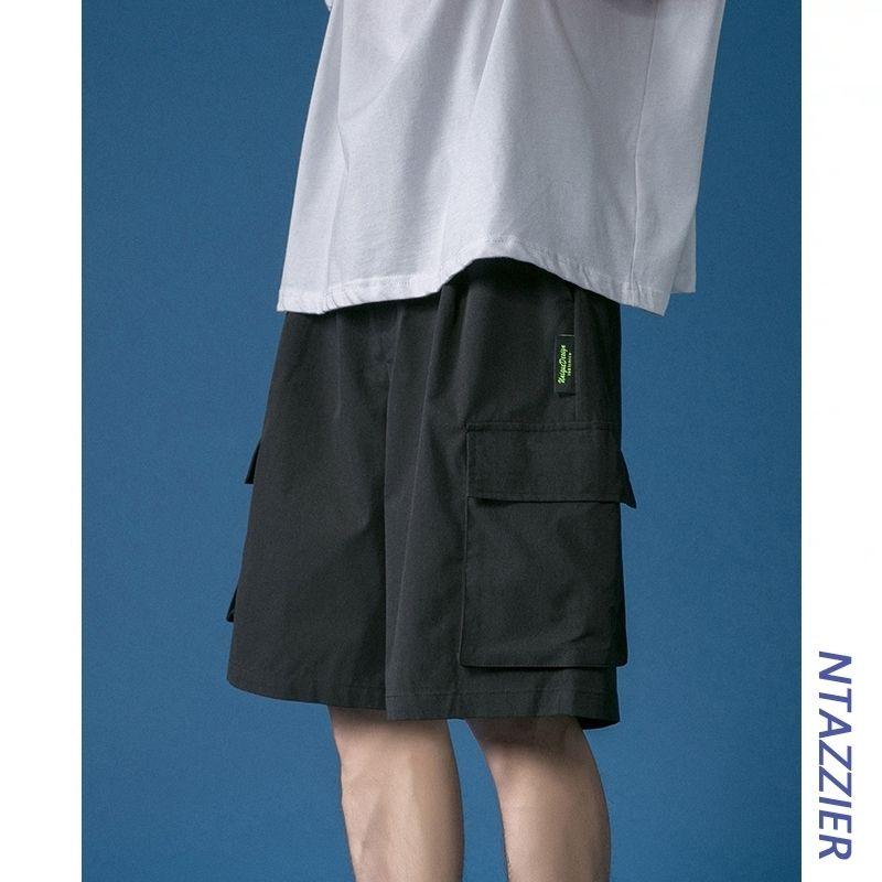 Широкие комбинезоны ног шорты мужские инструменты Свободные функциональные Capris лето износа модные прямые брюки 5 очков