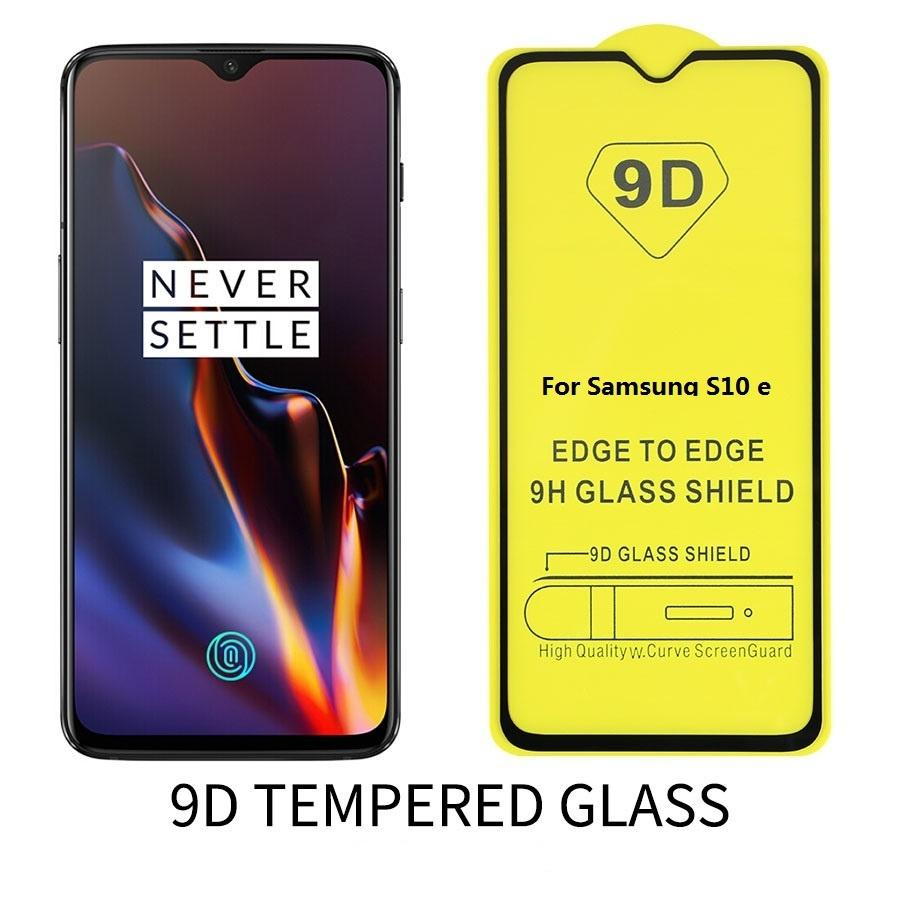 9D Plein complet Curve trempé Arc Edge Lunettes Verres Verres Protecteur d'écran pour Samsung S10 Plus 5G E S9 S8 Plus