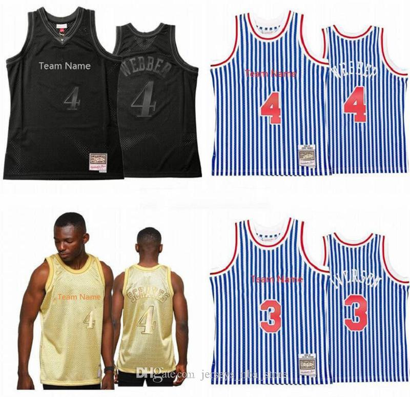 Hommes personnalisés Femmes Youth Basketball PhiladelphiaPity Team 4 Chris Webber Mitchell Ness Hardwoods Classic Retro Jersey S-6XL