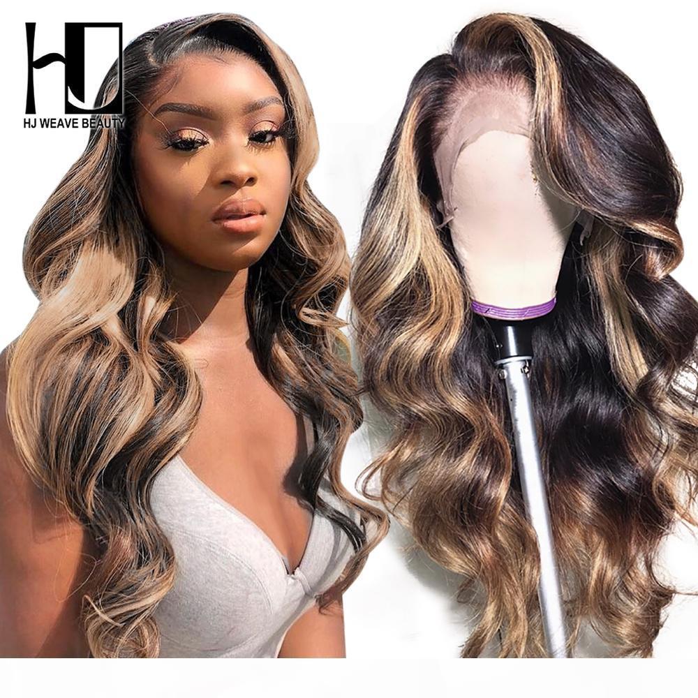 Destaque Peruca Brazilian Body Wave Lace Front Human Human Wigs 13x4 Brazilian Remy Human Hair 13x1x6 Transparente Renda Peruca