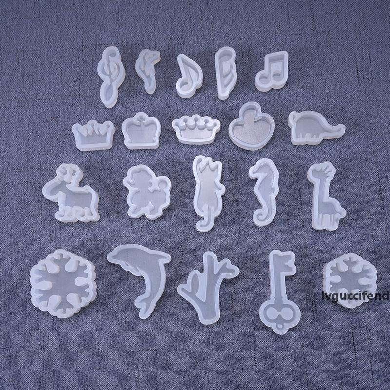 Crystal Drop Rubber Pendant Mould Silicone Molds Snowflake Animal Jewelry Mold DIY Jewelry Toy Popular 0 44zb UU