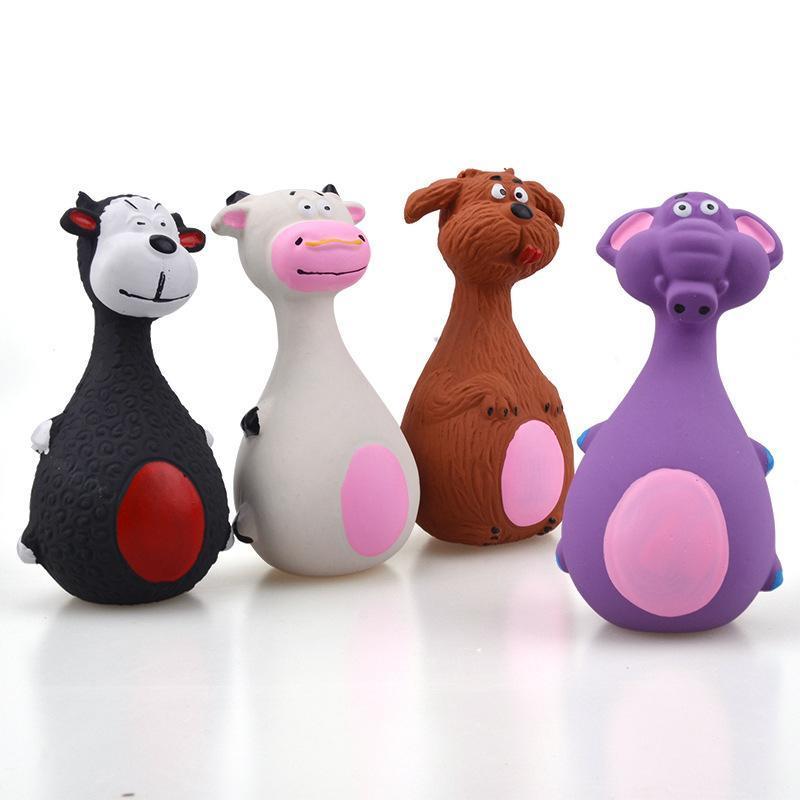Matériel de latex de jouets pour chien de compagnie Faire du son gros ventre d'éléphant bande dessin animé chiot jouet jouet animaux de compagnie accessoires