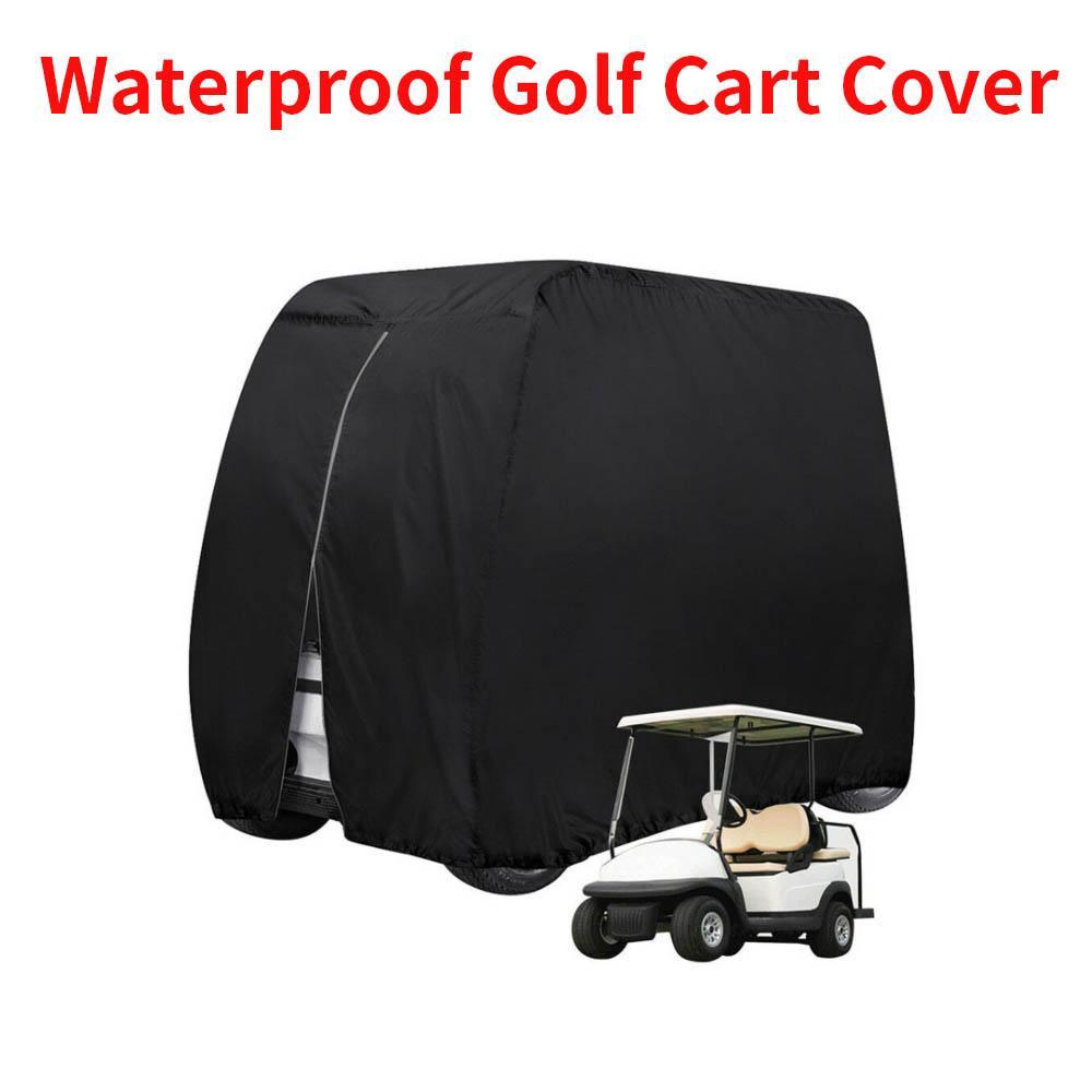 Protable 112 '' x 48 '' X 66 '' Su Geçirmez Güneş Yemini Açık Golf Sepeti Kapak Yamaha EZ GO Club Car 4 Yolcu
