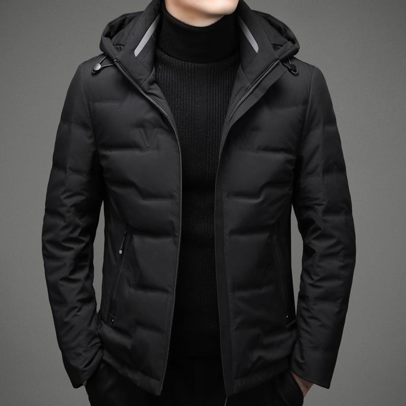 Mimi Herren Down Jacket Winter 2020 Neue Jugend Weiße Ente Daunen hübsche kurze Kapuze Herren Erdmantel Mode 206