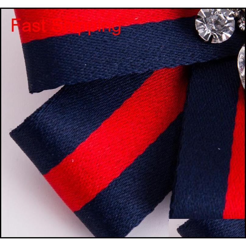 2020 Yeni Bohemia Abartı Markaları Kumaş Çiçek Rhinestone Broş Papyon Kız Kadınlar için Moda C Qylutg Homes2007