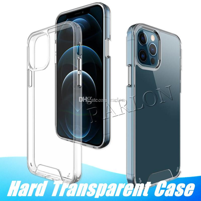 Premium Space Transparent Rugged Clear TPU PC Shockproof Hard Case for iPhone 12 Mini 11 Pro Max XR XS 6 7 8 Plus Factory sales