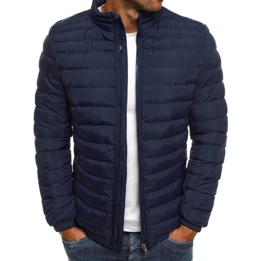 В мужской стойке воротник хлопок мягкая куртка зима 2021