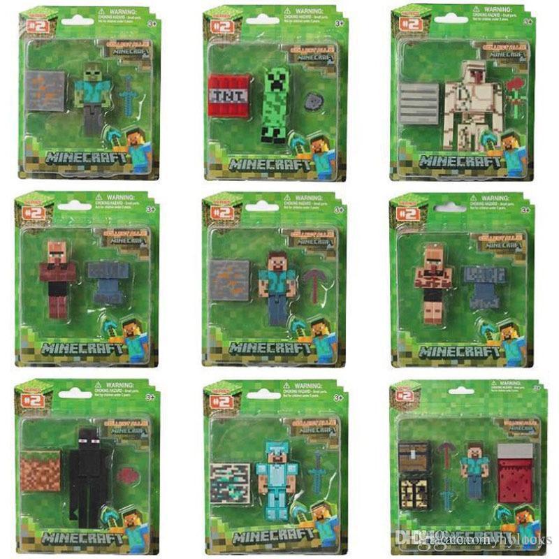 Creeper Montaje Regalo Puzzle Toys Boy Building Modelo Ghast Le Hombre Minecraft Minifig Mine Para Niños Navidad Ladrillos Bloques Uslg