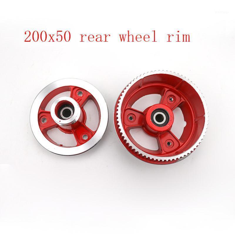 Bonne qualité 200x50 jante à bord de la jante de roue de roue en aluminium de roue en aluminium FIT Scooter avec pièces de scooter d'essieu 200 * 501
