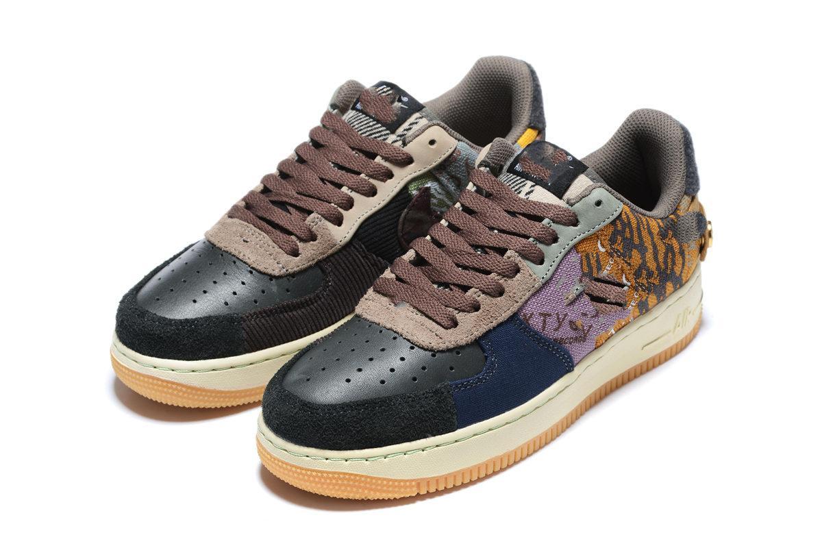 Travis Scott X 1 Low Cactus Jack Reißverschluss Schuhe Houston Öler Basketballschuh Medium Olive Polychrome Gold Tehe Sneaker Größe36-45