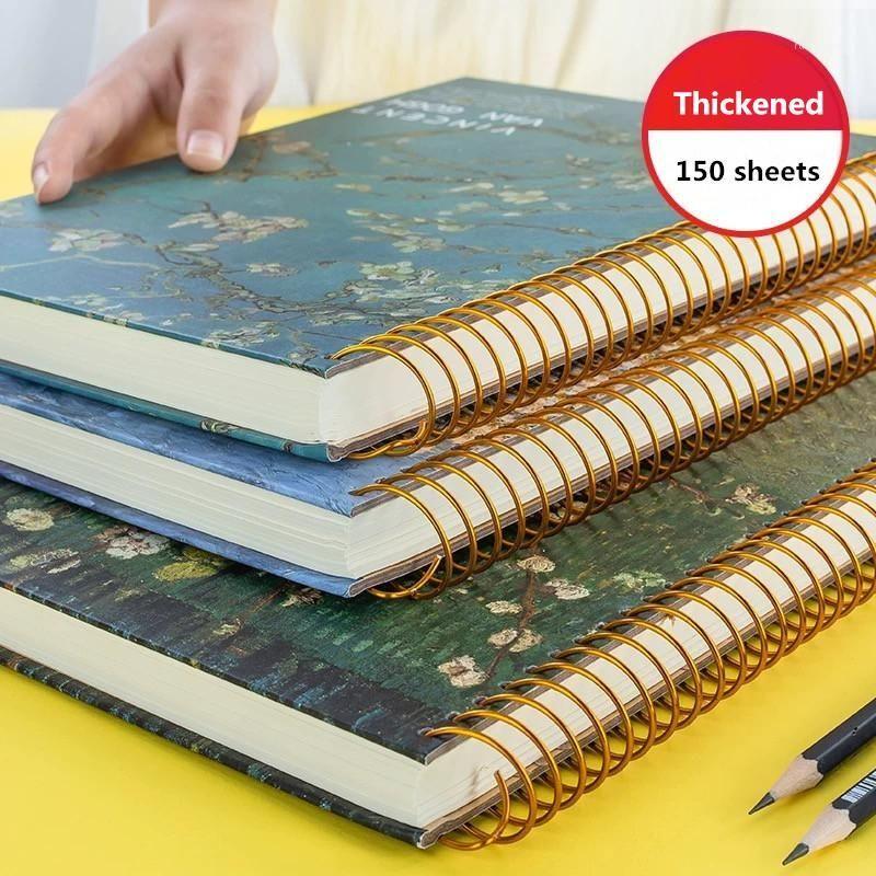 2020 Nuevas 150 hojas engrosadas Vintage van Gogh Cuaderno Planificador del planificador Agenda diaria Mensual Estudio Trabajo Notepad Agenda Escuela Papelería 1