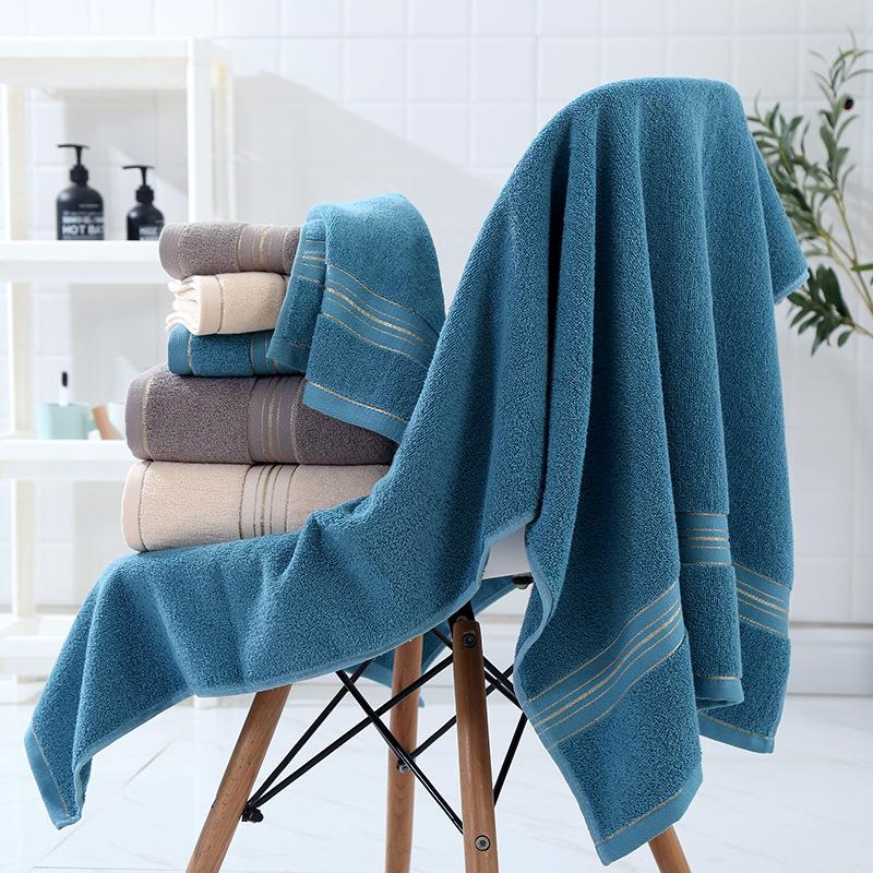 Outdoor Travel Quick Dry Towels Fashion Solid Color Bath Towel for Unisex Cotton Hotel Bath Towels