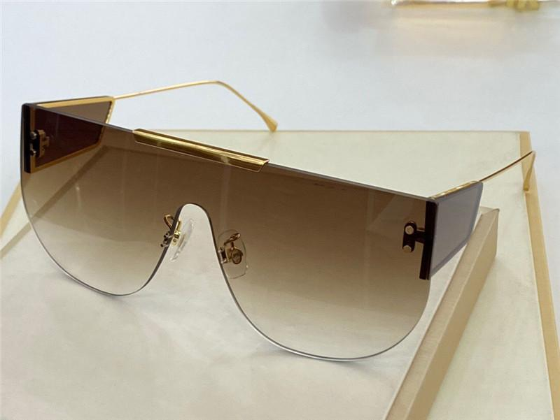 New fashion design man and woman sunglasses 0093 frameless shield lens avant-garde popular style uv 400 protective glasses top quality