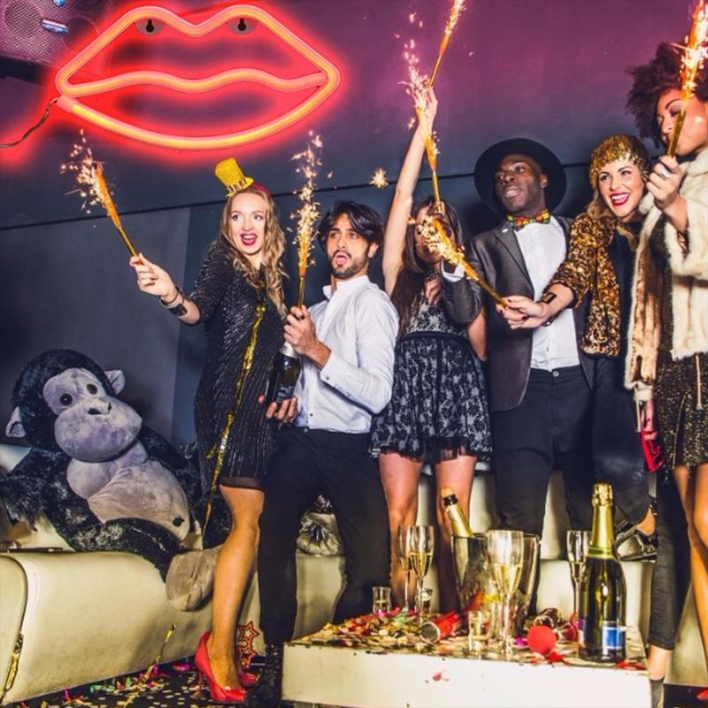 Dekoratif Işık Neon Dudak Burcu LED Gece Işıkları Yatak Odası Dekorasyon Doğum Günü Düğün Parti Evi Duvar Dekor Sevgililer Günü Hediyesi