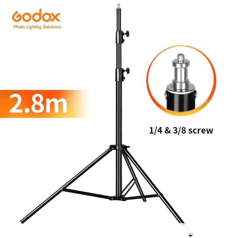 Stand de la lumière intense de Godox 280cm 2.8m 9ft 9ft pour Fresnel Tungstène Light TV Station Studio Photo Studio Tripods