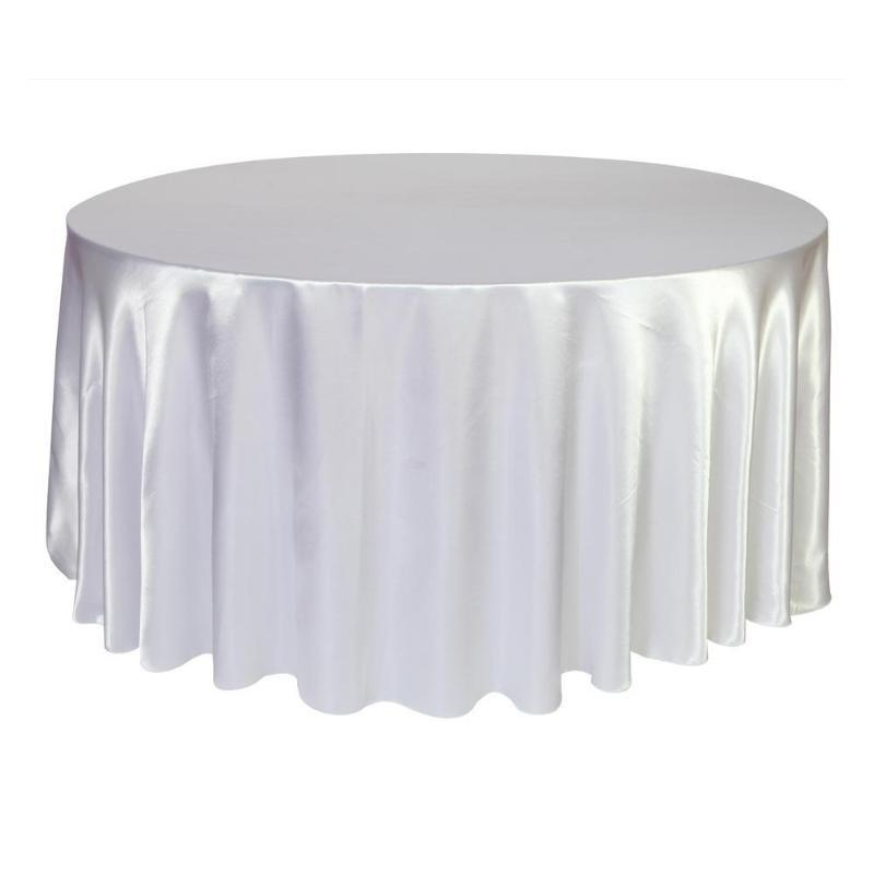 5 قطع جولة الجدول القماش سماط البوليستر الحرير الجدول غطاء ل حفل زفاف مأدبة مطعم المنزل الديكور
