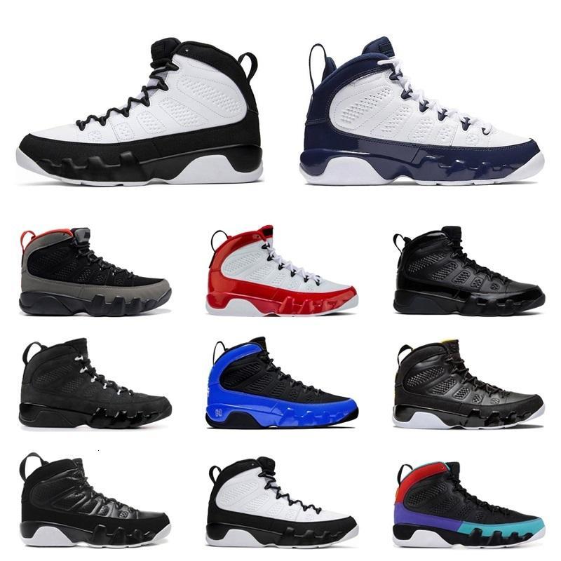 9s Jumpman Chaussures d'extérieur Gym Rouge Anthracite Noir Blanc Blanc Citrus Racer Bleu Space Bleu Jace Baskets Sports de Mode Sports de mode