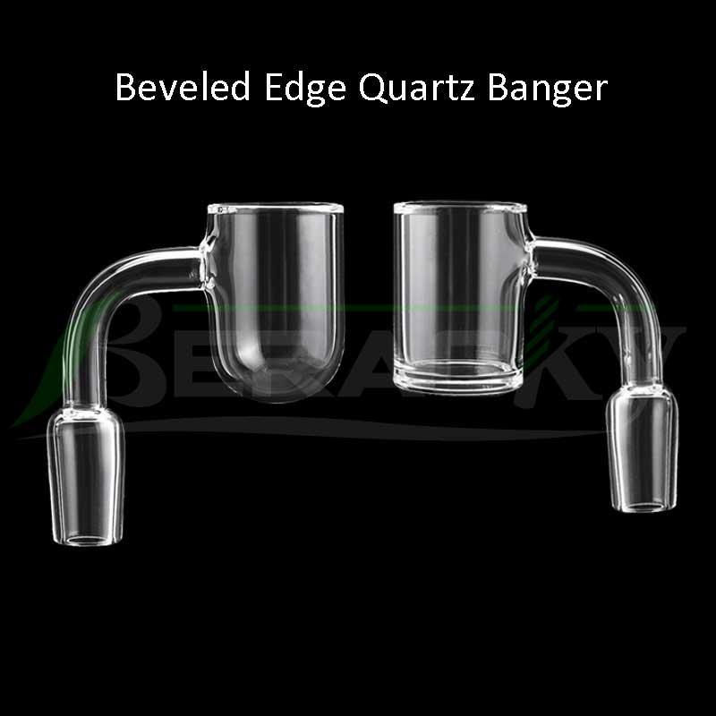 Beracky 25mmod Beveled Edge Banger Banger Flat / Redonda Inferior 10mm 14mm 18mm Masculino Feminino 4590 Pregos de Bangers de Quartz para Glass Bongs Dab Rigs