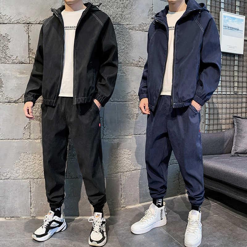 Одежда 2020 весна Новая мода мужская свободная куртка