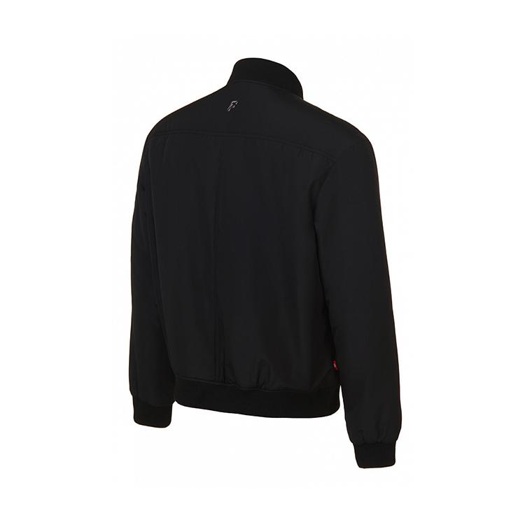 Veste rembourrée homme douce et coupe-vent noir résistant à l'hiver