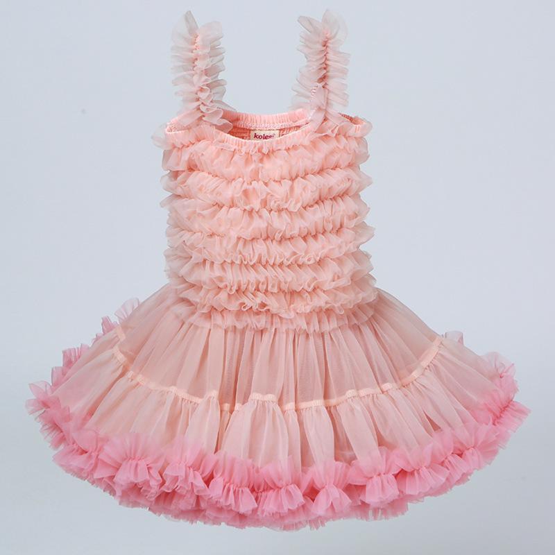Ropa para niños Vestido de tutu para niñas Baby Ball vestido Linda Princesa Partido Vestido Casual Ruffled Bubble Vestidos