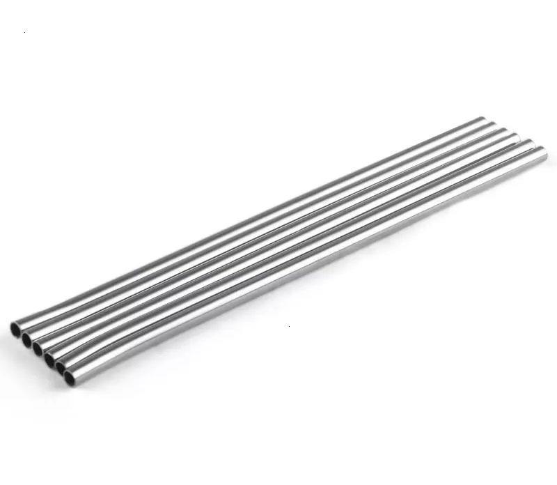 Factory Price Steel Plus Taille et pli droit Bourrande de nettoyage en acier inoxydable Barre de paille réutilisable Outil de boisson