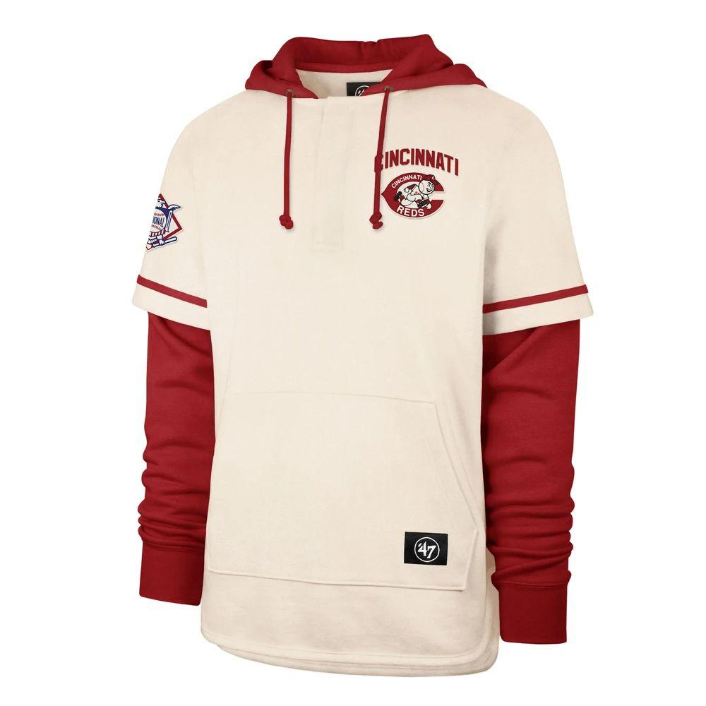 Cincinnati.RotesMänner Sweatshirt Cooperstown Heritage Shortstop Pullover Baseball Hoodie
