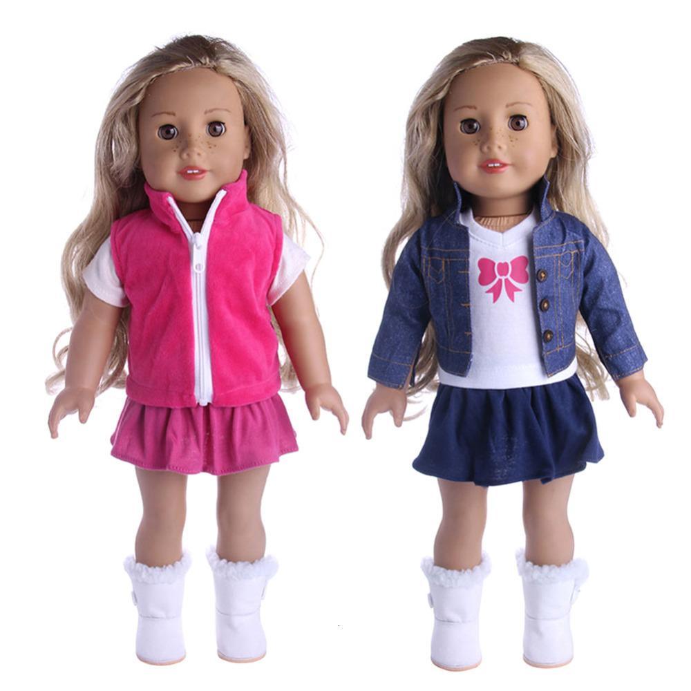 Roupas novas roupas vestido pijamas para 18 polegadas menina americana boneca cowboy terno Nossa geração acessórios por atacado