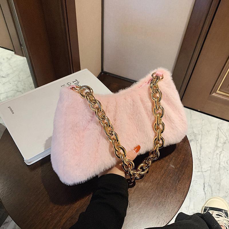 Oluolin mujeres rosa bolsa de hombro bolsa de axila retro color sólido diseño de moda suave bolso y bolso bolso bolso