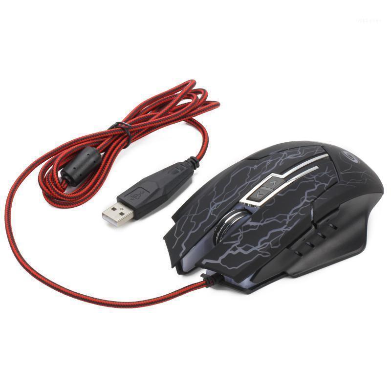 Mäuse 6 Button 2400 DPI LED Optische USB-Computer-Maus Ergonomie-Gamer für Laptop-PC-Spiel Professionelle kabelgebundene Gaming Mouse11