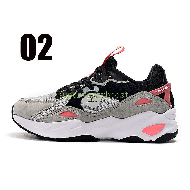 2021 Treeperi Fashion Chunky 6.0 US 6.5 EUR 37 Zapatillas Running Black Grey Crimson For Women Sneakers