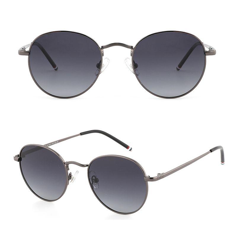 Colori Round Sun 4 Femmina Vintage Polarizzato Design Design Girl Eyewear Brand Donne Occhiali da sole per Occhiali Senta Occhiali Oculos GLT9044 EQTVJ